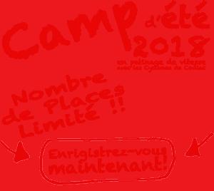 Camp d'été en patin de vitesse 2018